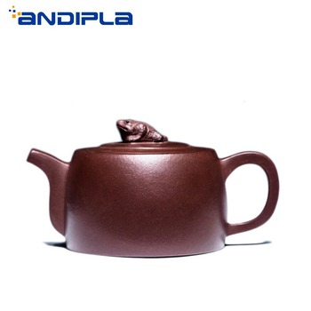 220cc Authentic Yixing Teapot Health Care Toad Pot Tea Maker Purple Clay Handmade China Kung Fu Tea Set Zisha Kettle Tea Pot