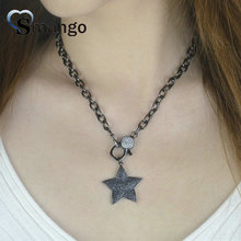 5Pieces, Women Fashion Jewelry, The Star Shape Necklace,2 Colors,Can Wholesale
