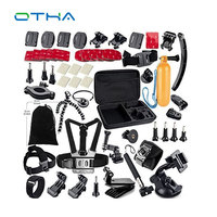 OTHA Gopro Accessories Set Chest Mount for Gopro Hero 4 3 SJ5000 Camera Tripod for Go Pro Kit Sports Camcorder Cases
