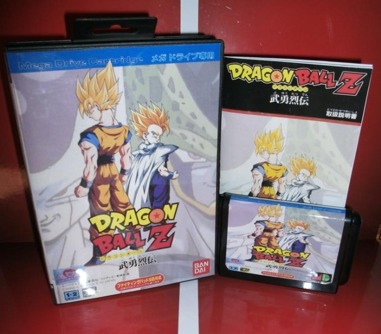 Juegos de Sega tarjeta de Dragon Ball Z-Buyuu Retsuden con Caja y Manual para Se