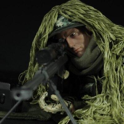 """1/6 Escala Militar Acción Figura Muñeca Super Flexible 12 """"figura De Acción Muñeca Jungla Francotirador Soldado Plástico Modelo Juguetes"""
