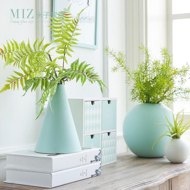 Miz 1 Stück Geometrische Blumentopf Für Dekoration Keramik Vasen Für