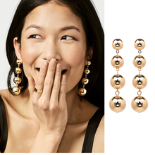 JUJIA 4 tiered balls drop features a luxe fashion earring for women wholesale earring 7.5 CM