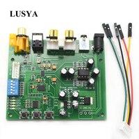 Lusya es9038q2m i2s iis dsd dop fibra coaxial spdif digital de áudio dac decodificador placa suporte 32bit 384k dsd64 128 256 A9-012
