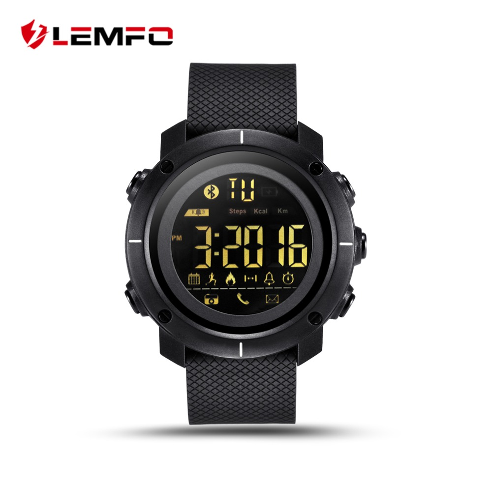 LEMFO LF19 Smart Watch Professional Sport Watches 50M Waterproof Clock  Pedometer Swimming Bluetooth Sync For IOS Android Phone b9d397ba45