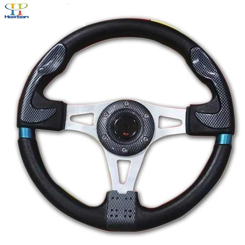 Universal PVC leather steering wheel 320mm 13 inch aluminum racing steering wheel for momo Drift Sport steering wheel and horn