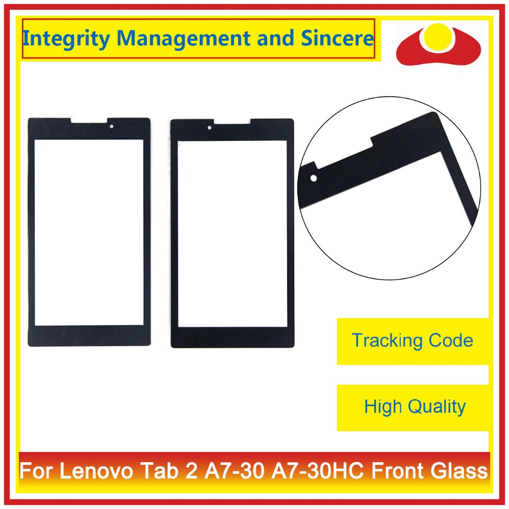 High Quality 7.0 For Lenovo Tab 2 A7-30 A7-30HC Front Glass Outer Glass Lens Panel Black Free Shipping+Tracking Code free shipping tracking no 100