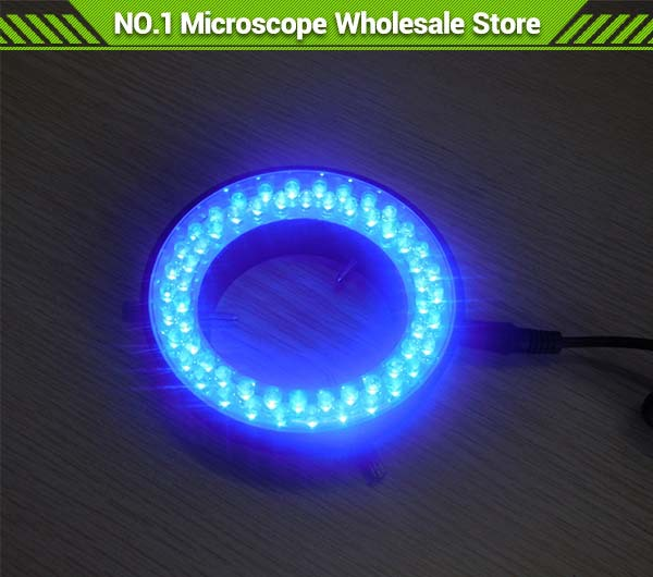 5PCS/LOT 60 Led  Blue Color Ring Lamps Stereo Biological Zoom Microscope LED Circular Light Ring with Adapter 220V or 110V blue light 60 led lamps stereo biological zoom microscope led circular ring microscopy lighting with adapter 220v or 110v