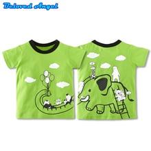 цена на Brand New Top Kids Boys Girls T-shirts 100% Cotton Summer Short Sleeve Tops Children's Clothing Boy Girl Brand Tees Baby Clothes