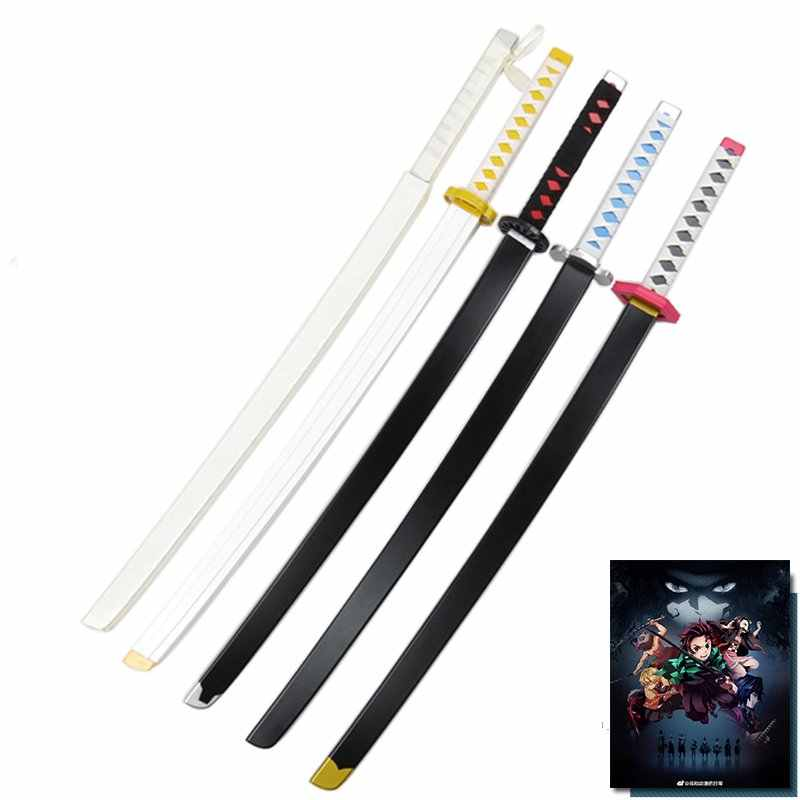 Demon Slayer: Kimetsu no Yaiba Kamado Tanjirou Cosplay Wooden Sword Stage Performance Props for Halloween Cosplay Party