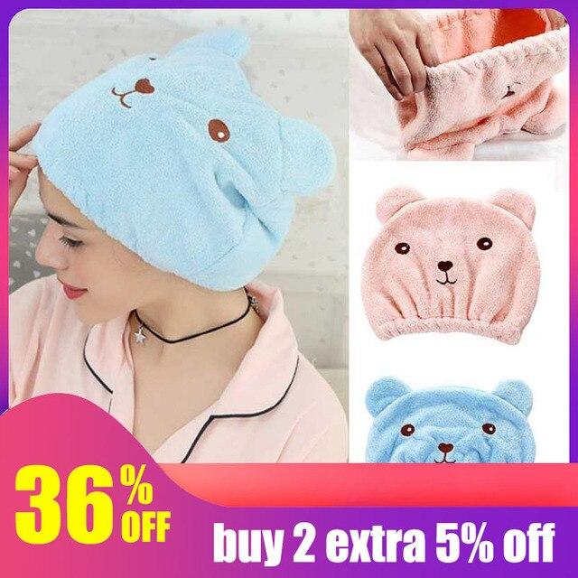 Hoomall Kuru Saç Şapka Mikrofiber Saç Türban Hızla Kuru Şapka sarma havlusu Yetişkinler için Banyo Kap Havlu Banyo banyo havluları