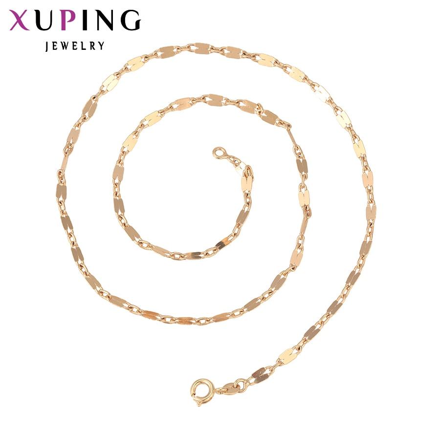 Xuping Мода Цепочки и ожерелья Новый Дизайн большой длинный Цепочки и ожерелья Золото Цв ...