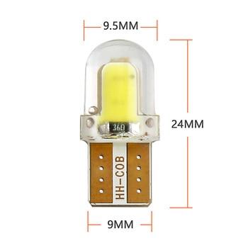 10 pièces LED W5W T10 194 168 W5W COB 8SMD LED ampoule de stationnement Auto Wedge clairance lampe CANBUS silice blanc brillant licence ampoules 4