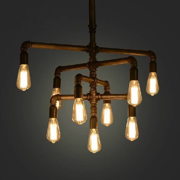 industrial pipe lighting. American Industrial Pipe Pendant Lights Fixure Restaurant Coffee Shop Bar Cafes Droplight Home Bed Room Dining Lamp-in From Lighting