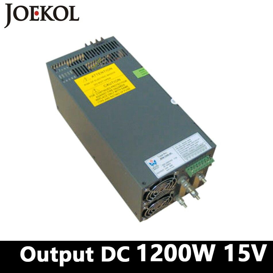Высокая импульсный источник питания 1200 Вт 15 В 80A, один Выход AC DC питания для Светодиодные полосы, AC110V/220 В трансформатор к DC 15 В