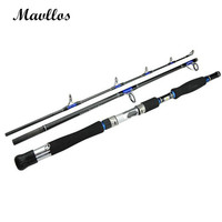 Mavllos 3 Section Carbon Boat Fishing Rod 70 250g Lure Weight Saltwater Ultra Light Spinning Fishing