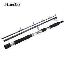 Mavllos Lure Weight 70-250g 3 Section Boat Jigging Fishing Rod FUJI Guide Ring Carbon Fiber Saltwater Spinning Fishing Rod Pole