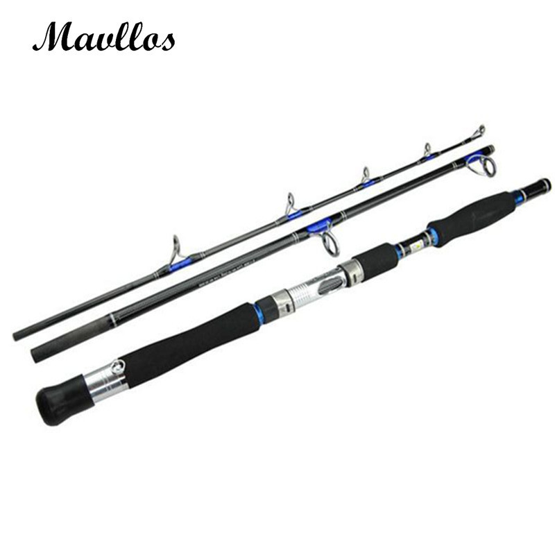 Mavllos Lure Weight 70-250g 3 Section Boat Jigging Fishing Rod Fast Action Carbon Fiber Saltwater Spinning Fishing Rod Pole 2016 2 1 2 7m 2 section fishing rod spinning lures rod 15 45g lure weight 15 25lb line weight mh 95% carbon fiber pole for bass