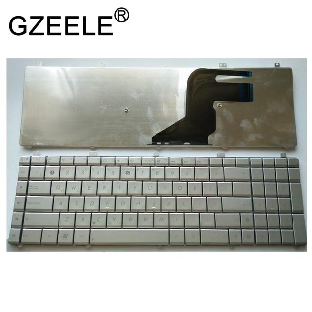 GZEELE NEW Russian Layout RU Laptop Keyboard for Asus N55 N55S N55SL N55SF N55X Silver replacement keyboard