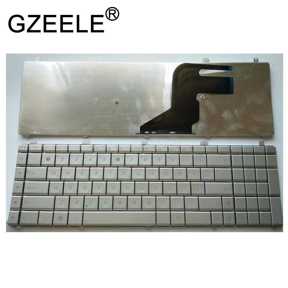 GZEELE NEW Russian Layout RU Laptop <font><b>Keyboard</b></font> for <font><b>Asus</b></font> N55 <font><b>N55S</b></font> N55SL N55SF N55X N75S N75SF N75SL Silver replacement <font><b>keyboard</b></font> image
