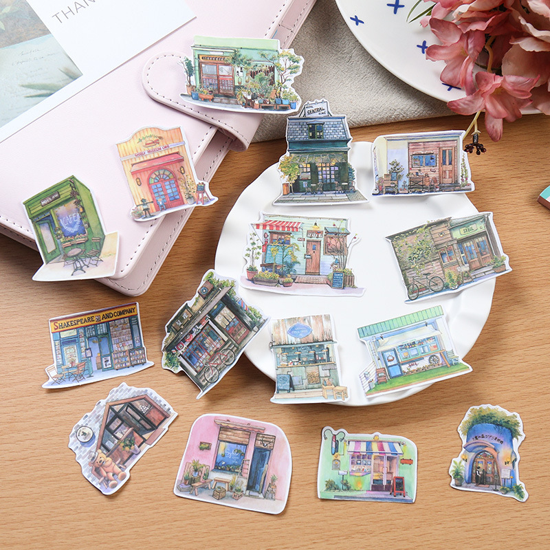 15pcs/lot Japanese Style Retro House Papers Stickers Flakes Vintage Romantic Love For Diary Decoration Diy Scrapbooking Sticker корм tetra tetramin xl flakes complete food for larger tropical fish крупные хлопья для больших тропических рыб 10л 769946