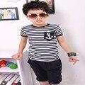 2016 новая горячая торгово-бесплатная T - мальчика 100% хлопок мальчиков детской одежды для мода стиль короткие мальчик одежда A1003