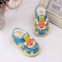2015 New Arrival Summer Cool Baby Girls Sandals Shoes Skidproof Toddlers Infant Children Kids Flower Shoes
