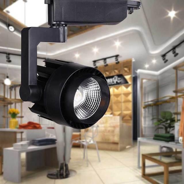 LED Track Light COB W W Ceiling Rail Lights Spotlight For - Kitchen rail lighting