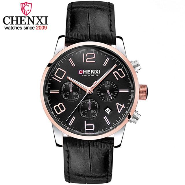 CHENXI Fashion Chronograph Sport Mens Watches Brand Luxury Quartz Watch Reloj Hombre Clock Male Wristwatch Man relogio Masculino