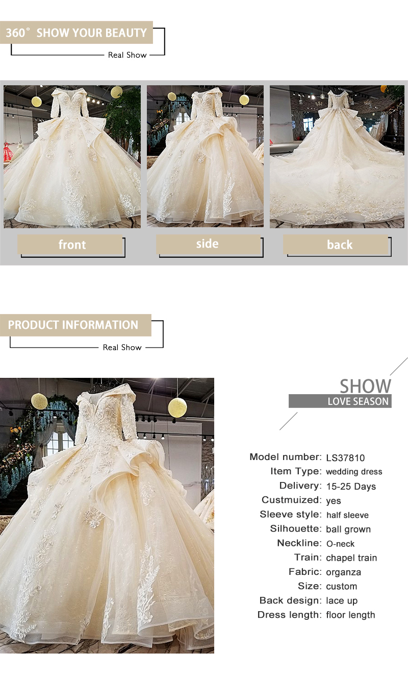 Detail Feedback Questions about LS37810 2018 new bridal gownhalf ... d552eeb13e24