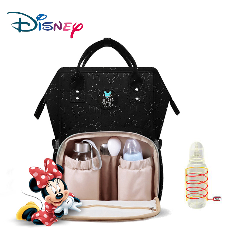 Disney Large Capacity USB Oxford Cloth Insulation Bags The Story Of City Bottle Feeding  Storage Bag Waterproof Diaper Bags NewDisney Large Capacity USB Oxford Cloth Insulation Bags The Story Of City Bottle Feeding  Storage Bag Waterproof Diaper Bags New