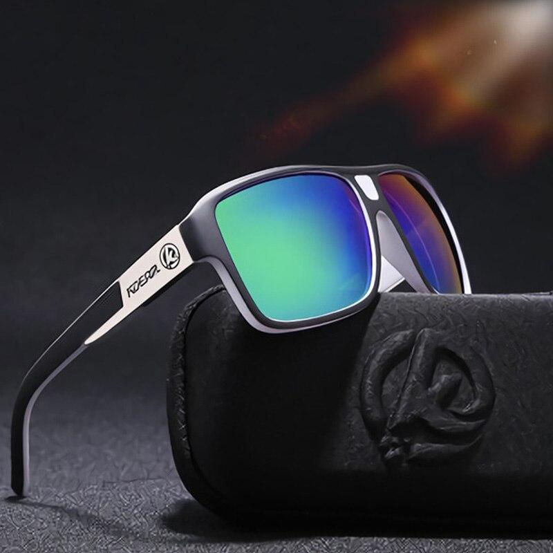 KDEAM Superdimensionada Óculos De Sol Dos Homens Polarizados Esportes HD  Drive Praça Óculos Polaroid UV Óculos Para Homens Óculos de Sol Masculino  Gafas ... 27d5aab0c2