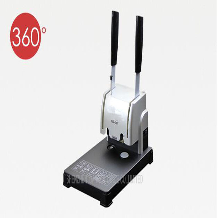1PC GD 30Y electric book binding machine financial credentials document archives binding machine manual drill