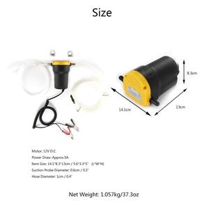 Image 5 - Onever Car Electricity Oil Extractor Transfer Pump 12V 5A Mini Fuel Engine Oil Extractor Transfer Pump for Diesel Gasoline