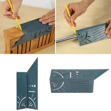 Полезное поступление деревообрабатывающий манометр линейка 3D Mitre угол измерения квадратный измерительный инструмент 45 градусов и 90 градусов углы измерения линейка