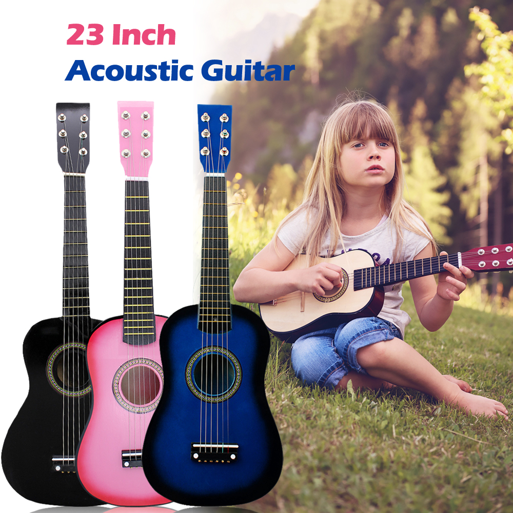 IRIN Mini 23 Inch Basswood Acoustic 12 Frets 6 Strings 6 Strings with Pick and Strings for Children Hcoustic Guitar