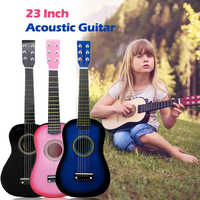 IRIN Mini Portable 23 Inch Basswood Acoustic 12 Frets 6 Strings Guitar with Pick and Strings for Children Acoustic Guitar