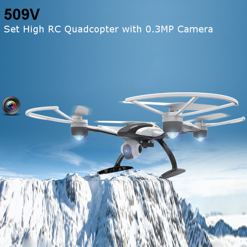 JXD 509V Set High RC Quadcopter with 0.3MP HD Camera 2.4G 4CH 6Axis Helicopter Headless Mode Drone One Key Return Remote Control jxd rc mini drone with camera hd wifi live camera helicopter radio control tiny quadcopter headless mode remote contol toy
