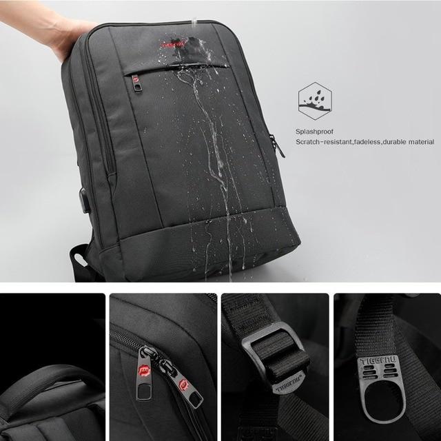 Tigernu USB Charger15.6 inch Laptop Backpack Women Men Slim Laptop Backpacks Bags Men Casual Daily School Bag for Teenagers 1