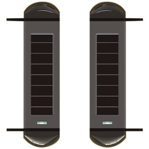 Triple beams solar powered wireless 100m active infrared beams perimeter protection detector