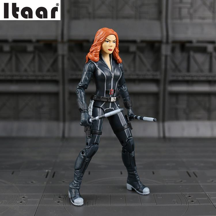 Marvel Captain America Civil War Black Widow PVC Action Figure Collectible Model marvel captain america war scarlet witch pvc action figure collectible model toy