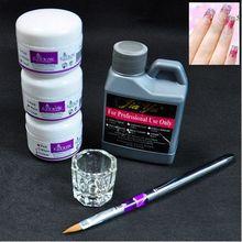 Acrylic Powder Kits Nail Tools Set DIY Decoration Set Nail Brush Holder + Nail Wash Water + Crystal Cup Nail Product