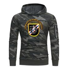 46th Special Forces Company print Army Camouflage Hoodies Mens Fleece Pullover Camo Hooded Sweatshirts Hip Hop Swag Streetwear(China)