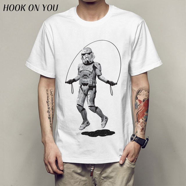 star war T-shirts printed ArmorLock t shirt men Funny novel men 's top tees Harajuku Style warrior t shirt Darth Vader camiseta