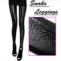 Stylish Vogue Women Snake Print Leggings Sexy Solid Rock Skinny Slim Stretch Pants Trousers