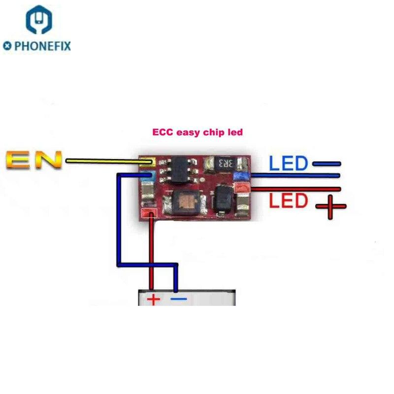 PHONEFIX оригинальный ECC простой светодиодный чип, для ремонта всех проблем с зарядкой для всех мобильных телефонов, планшетов, проблем с печатной платой Наборы ручных инструментов      АлиЭкспресс