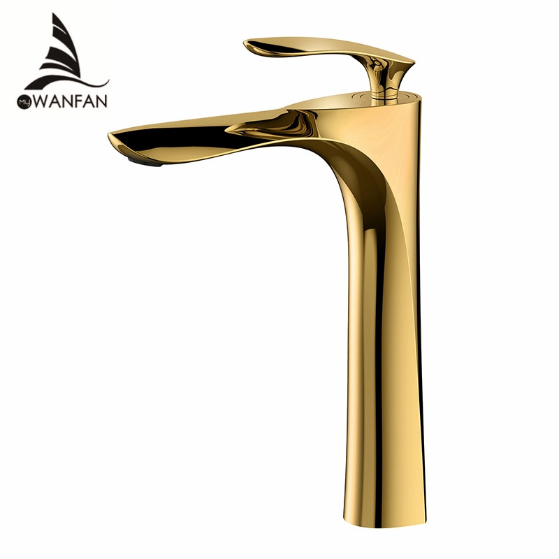 Basin Faucets Bath Water Basin Mixer Tap Bathroom Faucet Hot and Cold Gold plated Brass Toilet