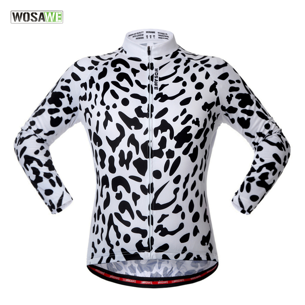 WOSAWE 2018 Downhill cycling Jacket LONG SLEEVE Clothing MTB wear Breathable Mountain Bike riding clothes Maillot de descenso