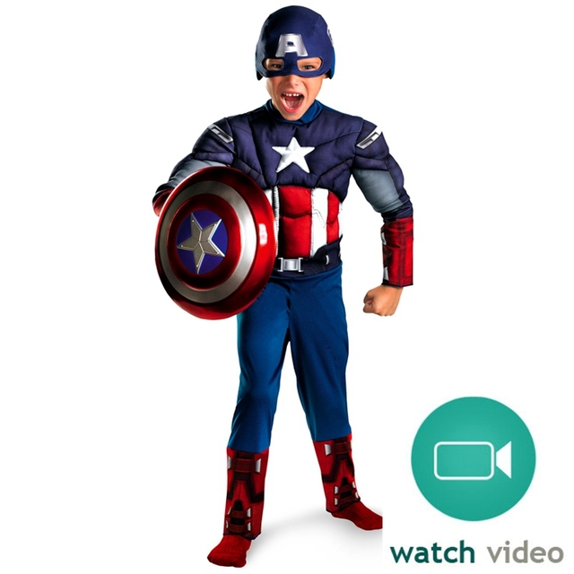 Avengers Captain America Muscle Halloween Party Costumes
