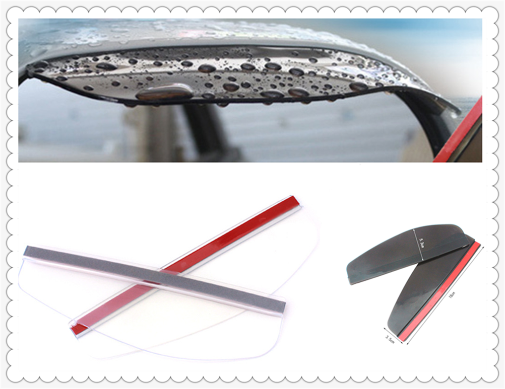 Car rearview mirror rain eyebrow visor eyebrow 2 piece high quality for <font><b>Mercedes</b></font> Benz A-Class X-Class S65 S63 S600 S560e <font><b>A180</b></font> image